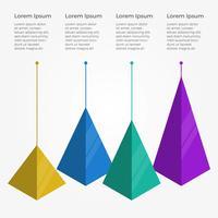 platt pyramid 3d infografiska element vektor mall
