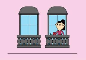 Balkon vektor