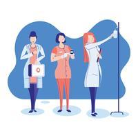 sätt medicinska kvinnliga sjukhus vektor