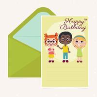 Vektor grattis på födelsedagen kortmall