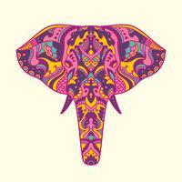 Gemalte Elefantillustration