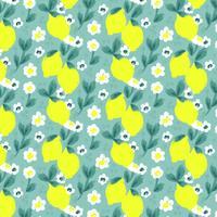 Vektor citron sömlös mönster