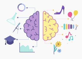 Human Brain Hemispheres Vector