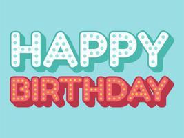 Grattis på födelsedagen typografi vektor