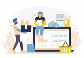 Vektor-Online-Shopping-Illustration vektor
