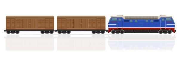 Eisenbahnzug mit Lokomotive und Wagen vector Illustration