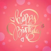 Alles Gute zum Geburtstag Typografie Vektor