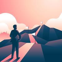Unternehmensziele Mountain Challenge vektor