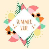 Kühle Sommer-Hintergrund-Illustration vektor
