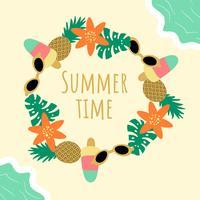 Netter Sommer-Hintergrund-Vektor