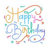 Grattis på födelsedagen bokstäver vektor