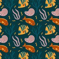Netter Korallenmeer-Muster-Vektor