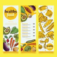 Gesundes Lebensmittel-Menü-Vektor-Design