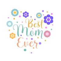 Flache Mutter-Typografie-Vektor-Illustration