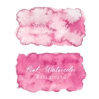 Rosa abstrakter Aquarellhintergrund. Aquarellelement für Karte. Vektor-illustration