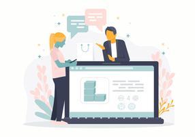 Vektor-on-line-Einkaufskonzept-Illustration