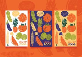 Gesundes Lebensmittel-Vektor-Design vektor