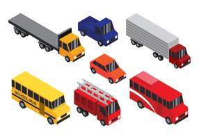 Isometrisk transport Clip Art Set