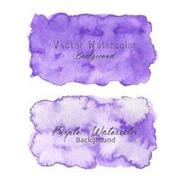 Lila abstrakt vattenfärg bakgrund. Akvarell element för kort. Vektor illustration.