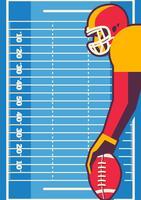 American Football-Spieler-Konzept