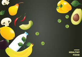 Gesundes Lebensmittel-Vektor-Design