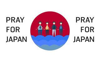 Vector Illustration im Konzept der Flut an Japan-Land. Bete für Japaner in der Stadt Takatsuki.