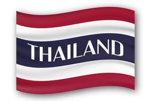 Ny typ flagga i Thailand land med röd, blå och vit färg.