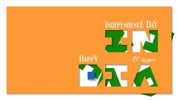 Glücklicher Unabhängigkeitstag des Indien-Landes und der Inder. Vektorillustrationsdesign für Zeitschrift, Abdeckung und Broschüre.