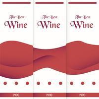 Luxusverpackungsschablone in der modernen Art für Weinabdeckung, Bierkasten. Vektorabbildung im erstklassigen Konzept. Papierschnitt und Handwerk ENV 10. vektor