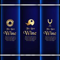 Luxusverpackungsschablone in der modernen Art für Weinabdeckung, Bierkasten. Vektorabbildung im erstklassigen Konzept. EPS 10. vektor