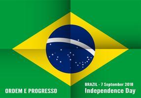 """Vector Illustration für Brasilien-Unabhängigkeitstag am 7. September für gefeierten Hintergrund. Auf Portugiesisch heißt es """"Dia da Independência""""."""
