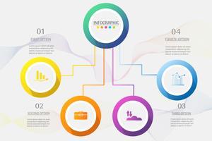 Design Business Vorlage 4 Optionen oder Schritte Infografik Diagrammelement. vektor