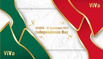 Vector Illustration für Mexiko-Unabhängigkeitstag am 16. September für gefeierten Hintergrund.
