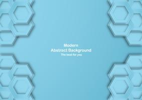 Abstrakt blå bakgrund med pastellfärg. Mall för företagspresentation, omslag, inbjudan, affisch, annons, banner. Ny trend av vektorillustration design i 3D pappersskärning.