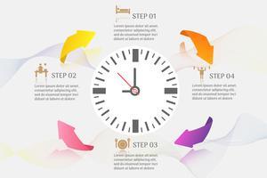 Design Business template 4 alternativ eller steg infographic chart element vektor