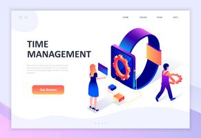 Modern plandesign isometrisk koncept för Time Management vektor