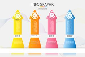 Design Business template 4 alternativ eller steg infographic chart element