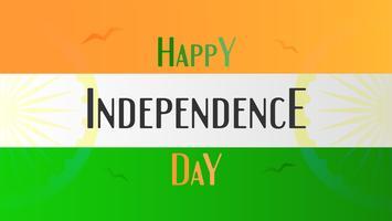 Glücklicher Unabhängigkeitstag des Indien-Landes und der Inder mit Flagge. Vektor-Illustration-Design.