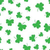 Nahtloser grüner Shamrockkleeblatt-Musterhintergrund. St. Patrick's Day. Abstraktes und modernes Konzept. Stilvolles Thema des geometrischen kreativen Designs. Abbildung Vektor. Papierumhüllungsdruck und -tapete vektor
