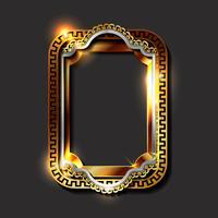 Dekorativa vintage guldramar och gränsar vektor