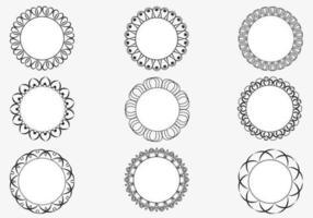 Dekorativ cirkulär ram Vector Pack
