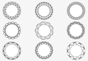 Dekorative kreisförmige Rahmen Vektor Pack
