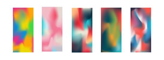 Smartphone tapet vektor illustration samling. Användning av klippmask och redigerbar skärm. Abstrakt begrepp tapet. Teknik och kommunikation tema.