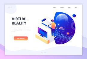 Isometrisches Konzept des modernen flachen Designs der virtuellen erweiterten Realität
