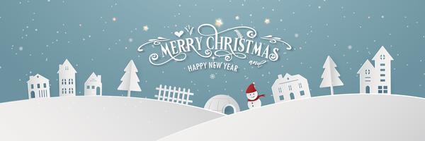 Stadttagnacht der frohen Weihnachten schneebedeckter und guten Rutsch ins Neue Jahr-blaues Weihnachtsfestivalende-Jahr-Parteischattenbild Santa Claus- und Rotwilddekorationsgrußkarten-Zusammenfassungs-Tapetenhintergrund. Grafik-Design-Vektor