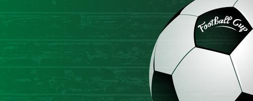 Fotboll kopp bakgrund. Klassisk boll på grunge grön fält bakgrund. Sport och fotboll nationellt tävlingshändelsekoncept. Abstrakt och tapet tema. Vektor illustration.