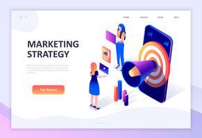 Modern planlösning isometrisk koncept marknadsföringsstrategi