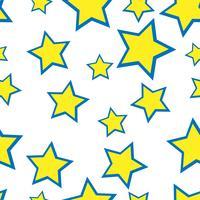 Nahtlose gelbe Sterne auf dem weißen Hintergrund vektor