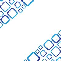 Weißer Hintergrund mit blauem quadratischem Vektor