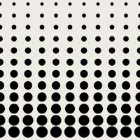 Sömlös mönster bakgrund. Modernt abstrakt och klassiskt antikt koncept. Geometrisk kreativ design snyggt tema. Illustration vektor. Svartvit färg. Cirkulär punkt halva tonen form